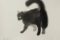 Černá kočka, Endre Penovác, Zdroj: www.penovacendre.com