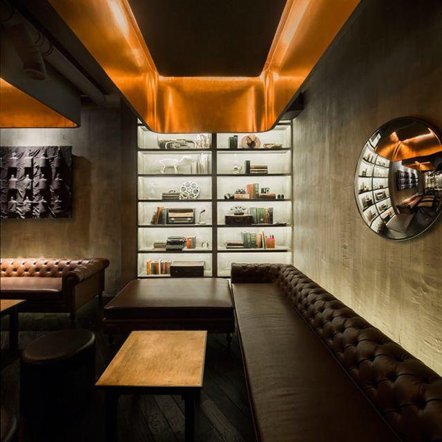Bar The Press, Šanghaj, design Alberto Caiola, Zdroj: www.albertocaiola.com