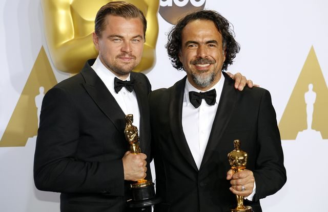 Leonardo DiCaprio a Alejandro Gonzales 2015 oscar