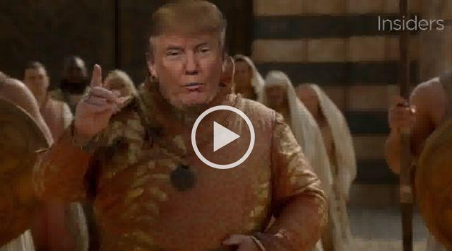 winter is trumping Donald Trump Hra o trůny Game of thrones