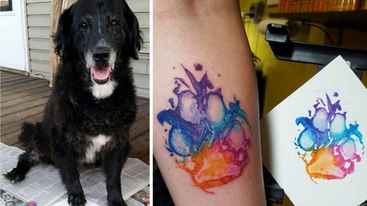 Tetování podle psí tlapky