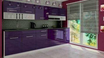 Kuchyňská linka fialová